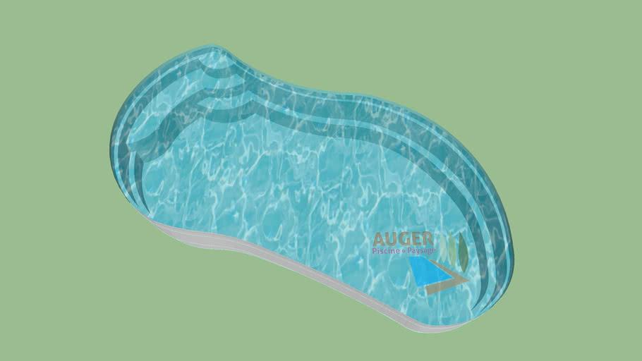 ATHENA - Piscine coque fibres de verre résine polyester