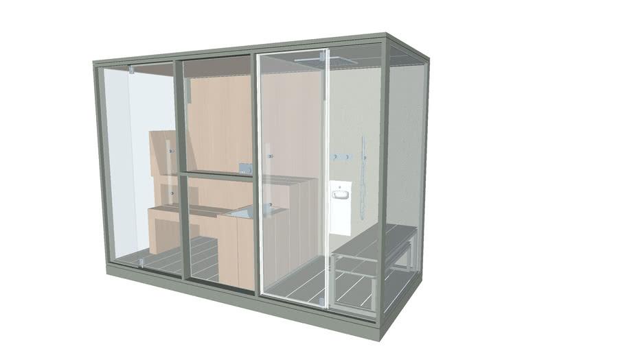 Effegibi Logica Twin Mid Sand - sauna and Hammam in a single unit.