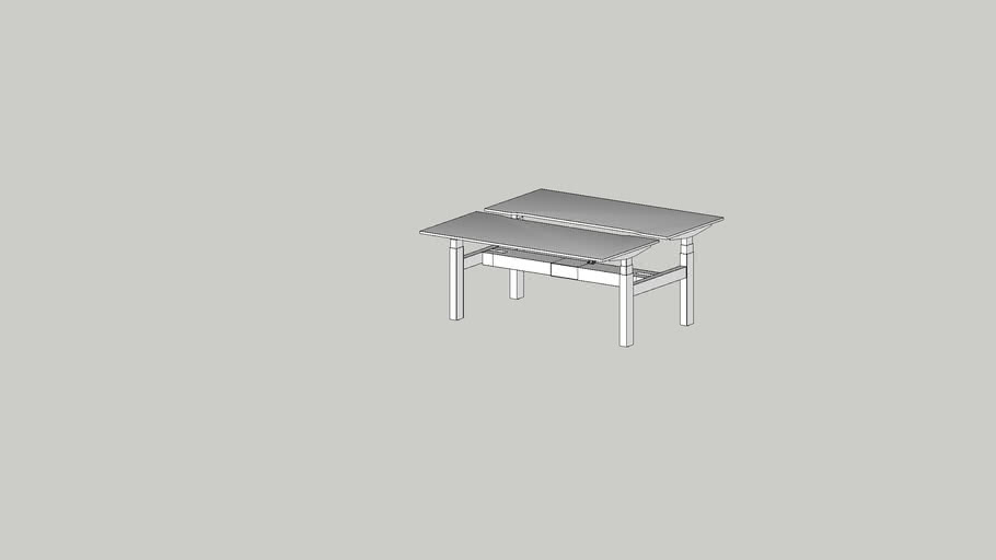 ALFA UP DUO working table 1600x740 cutout