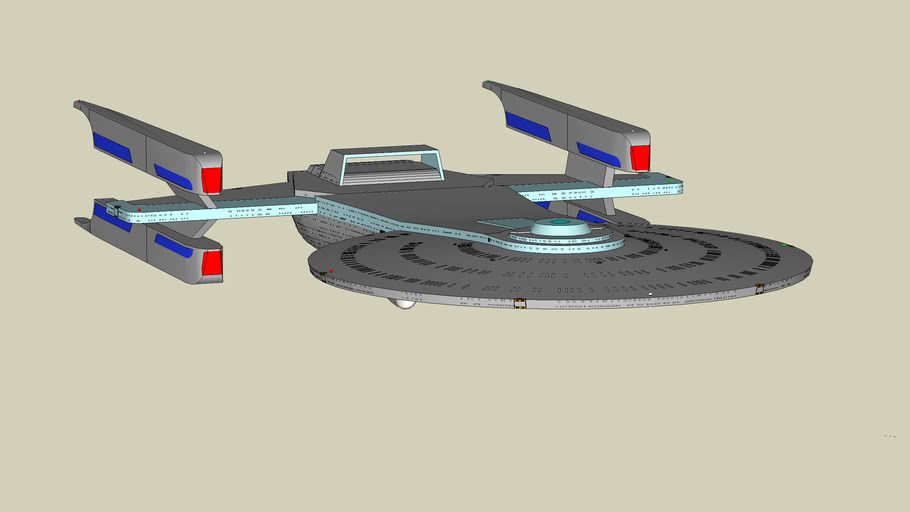 Star Trek federation starship from DS9