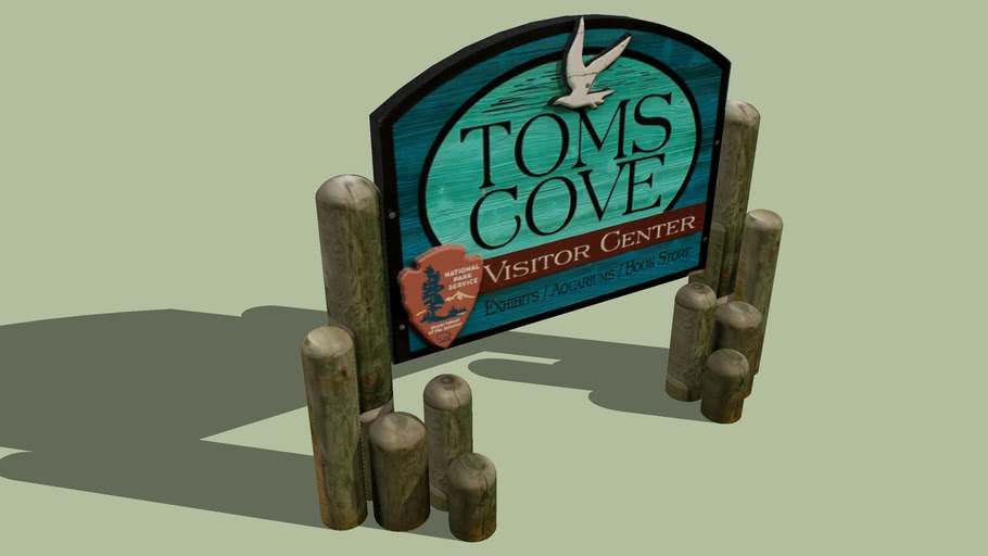 Toms Cove Visitor Center Sign, Virginia