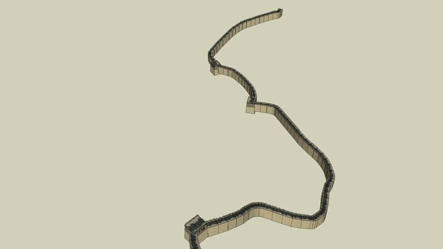 Great Wall of China Badaling South Unrestored 1 (Simple)