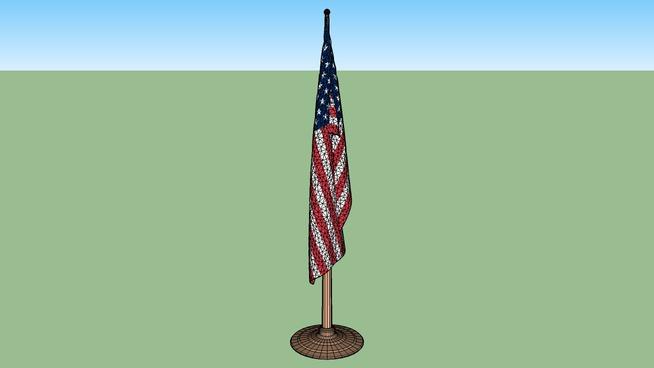 Flag U S  Indoor And 8 U0026 39  Pole