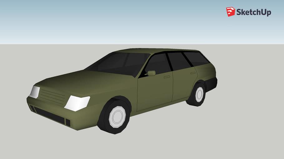 Olive station wagon