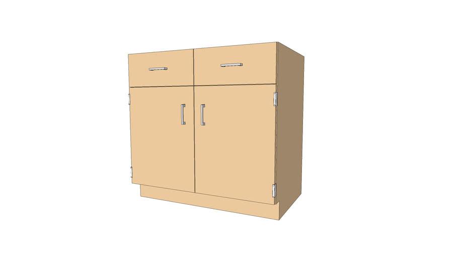 106-3622 Lab Base Cabinet - 2 Dr 2 Drw