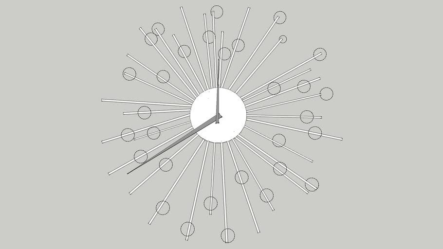 Contemporary diamond clock