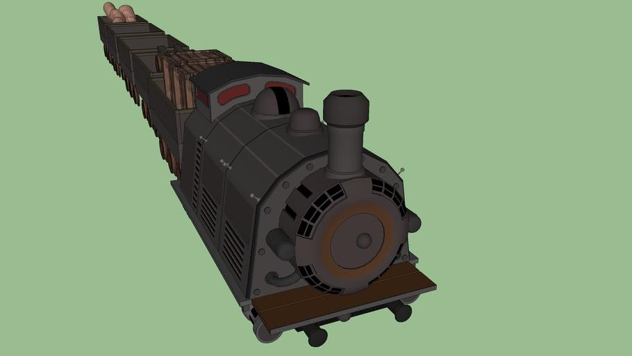 destroyable train set