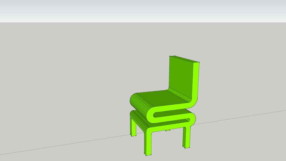 Lime green chair