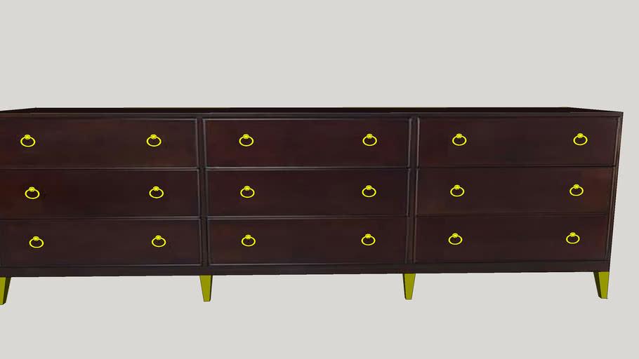 Nine Drawer Low Dresser