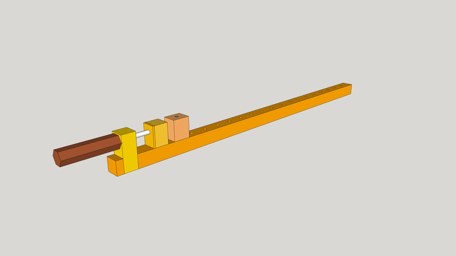 Long wooden clamp