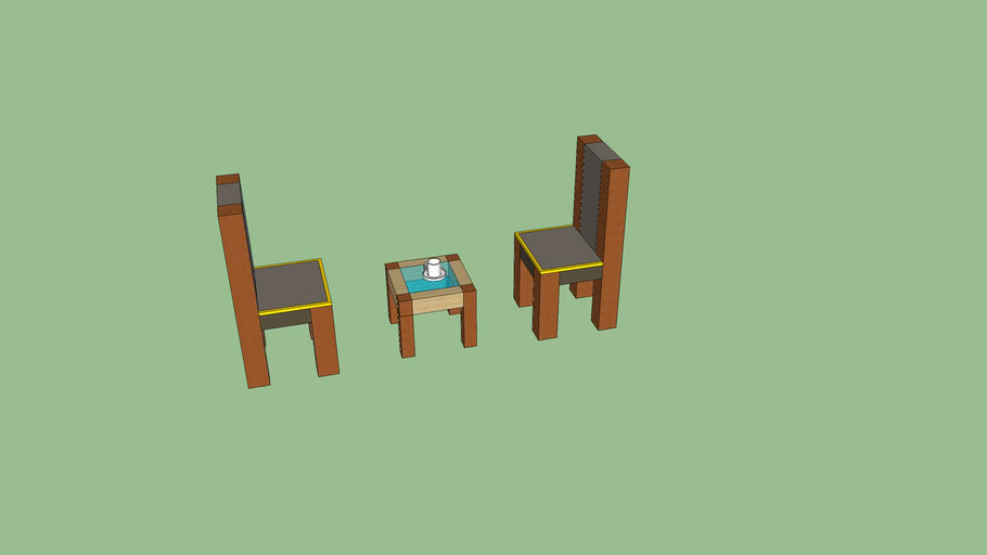Chairs with coffee table