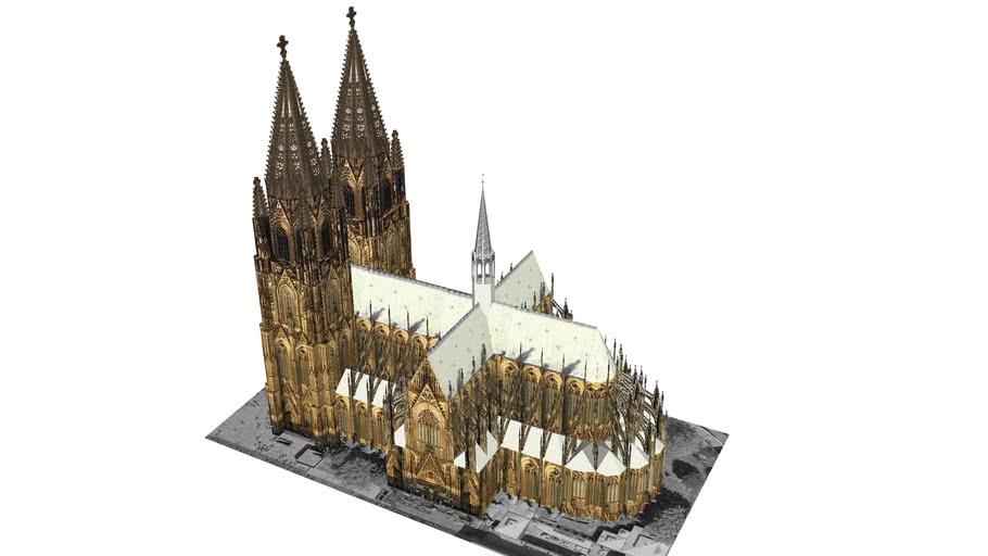 Kolner Dom Cologne Cathedral 3d Warehouse