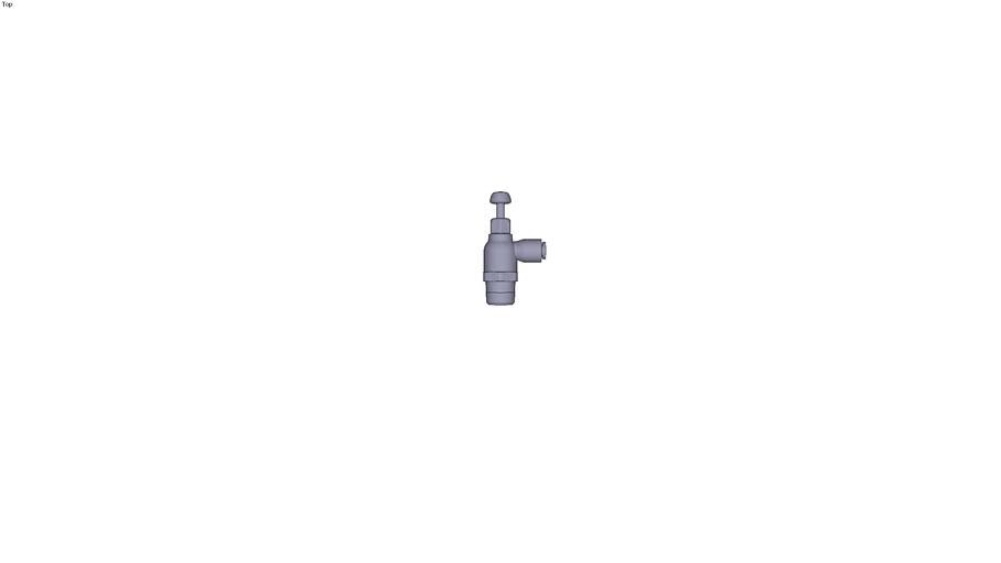 7066 - COMPACT FLOW REGULATOR SUPPLY VERSION BSPT & NPT DIAM D 5/32 INC C NPT1/4