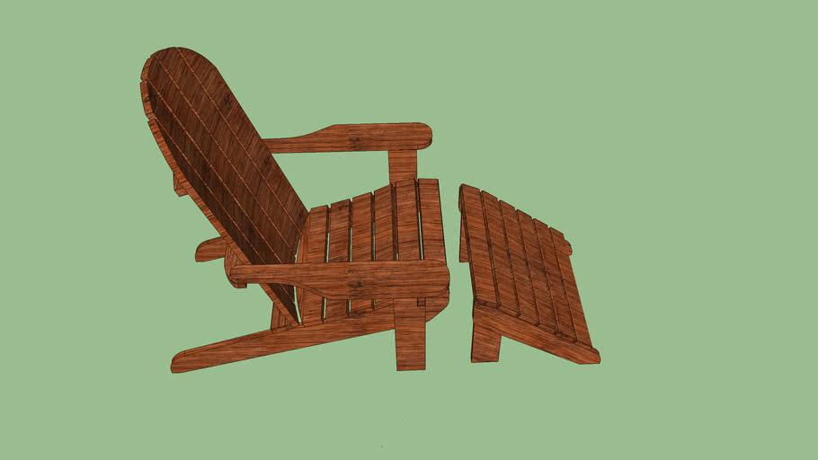 Cadeira Andirondack Michigan com Peseira