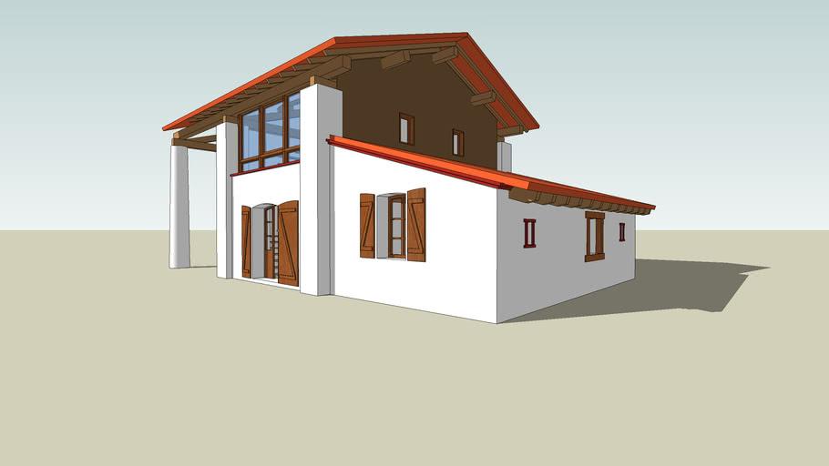 extention maison d'habitation en campagne