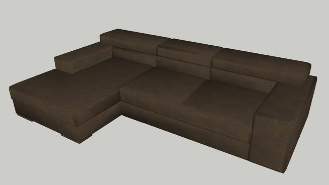 L-shaped Leather Sofa | 3D Warehouse