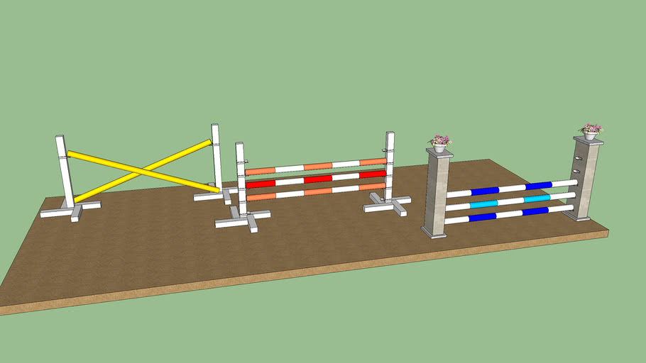 3D horse obstacles (jumping fences)