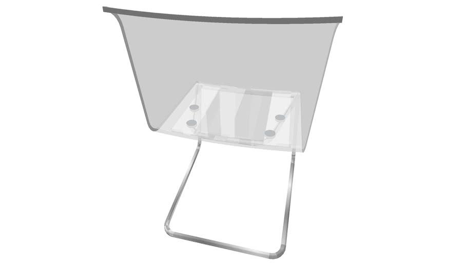 IKEA TOBIAS, silla de comedor, transparente
