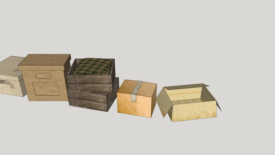 Boxes, box, коробки