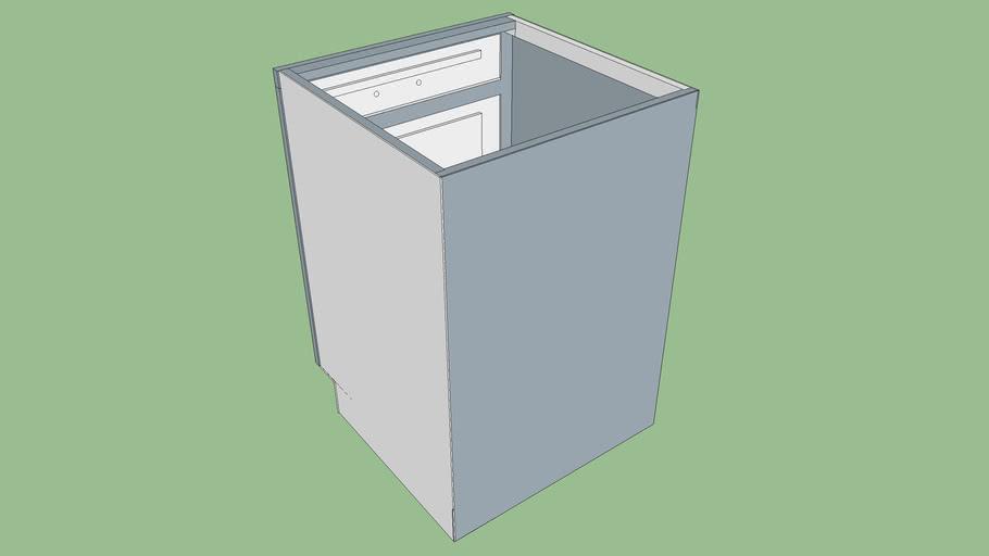 "B24 MasterCraft Cabinet - Shaker Style 1/2"" Partial Overlay"