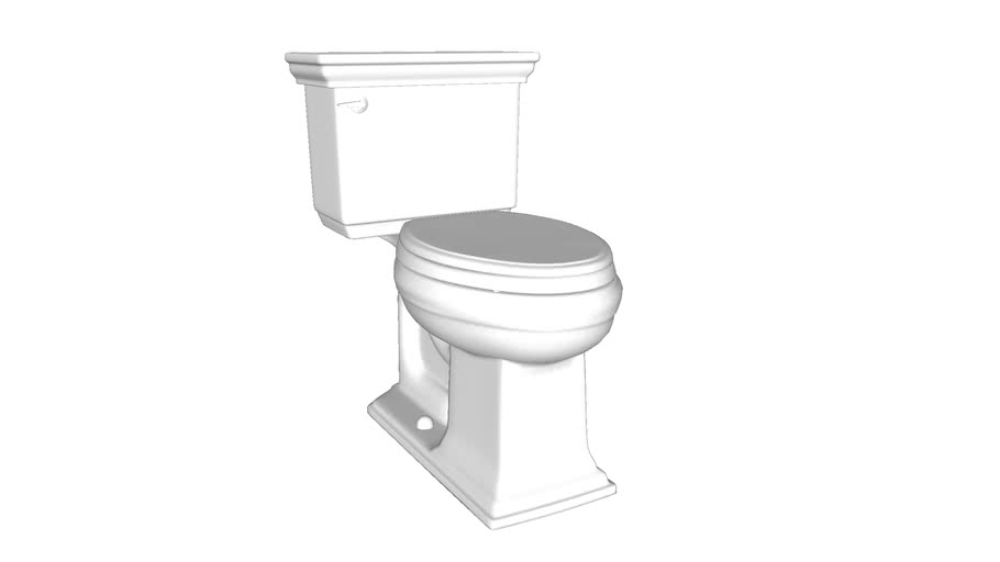 K-98994 Memoirs(R) Stately Comfort Height(R) The Complete Solution(R) elongated 1.28 gpf toilet
