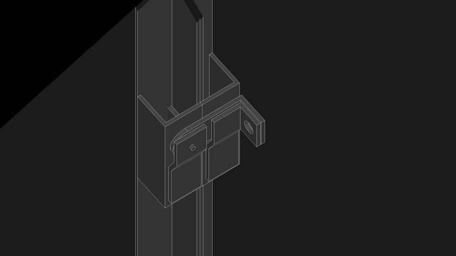 detail grendel pintu besi
