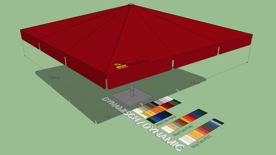 May Albatros 5.5x5.5m Square Giant Umbrella