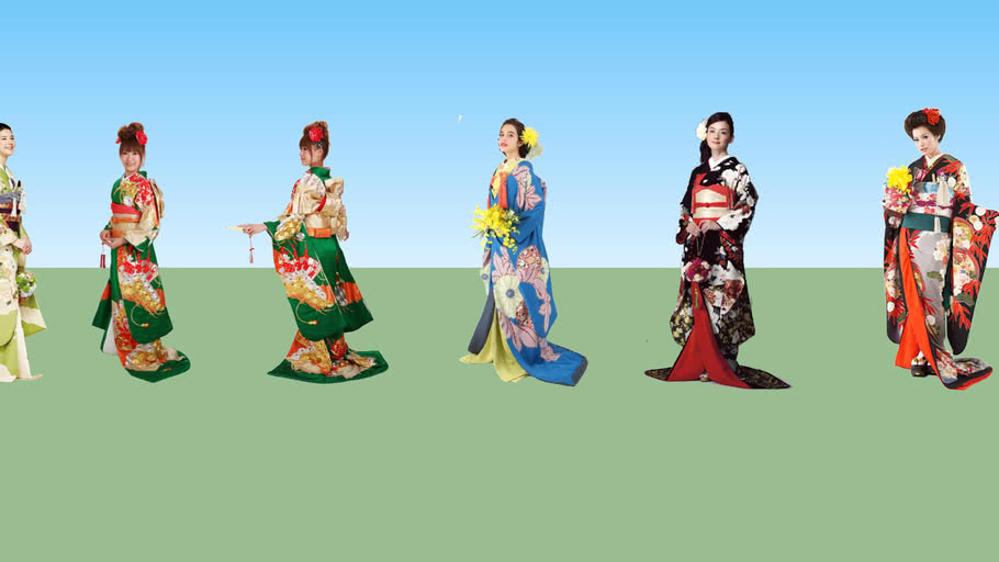 Japanese wedding and ceremonial dresses - collection # 1