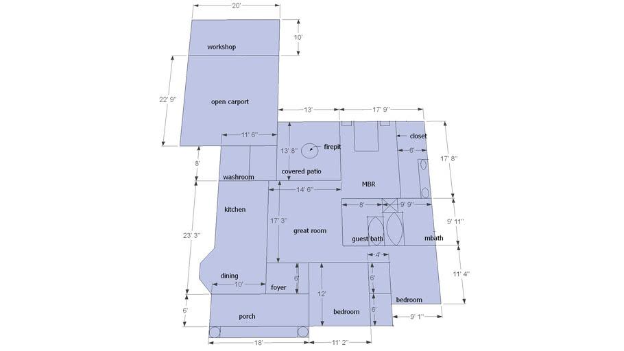 house plan modified
