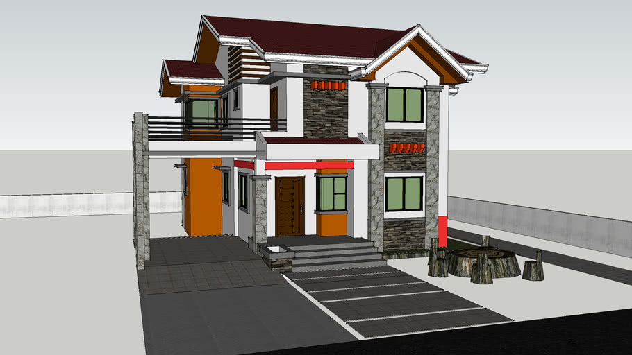 sir lope 2nd residential house 2 storey