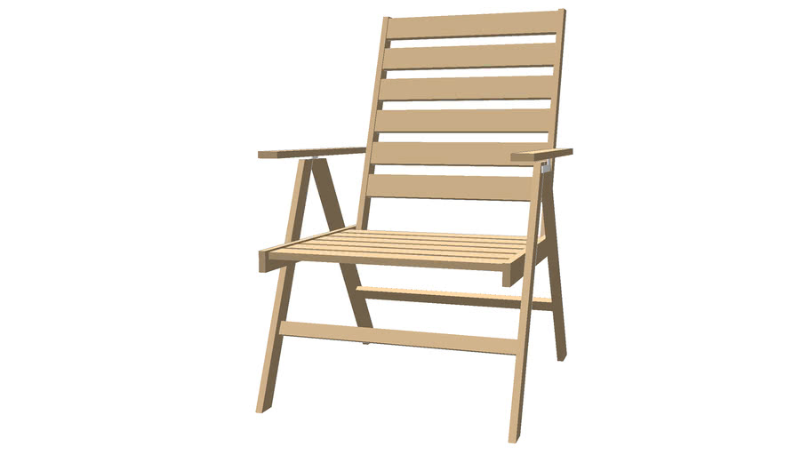 Wood deck chair