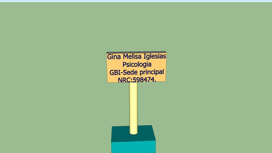 Gina Melisa modelo 3D Porta Targeta