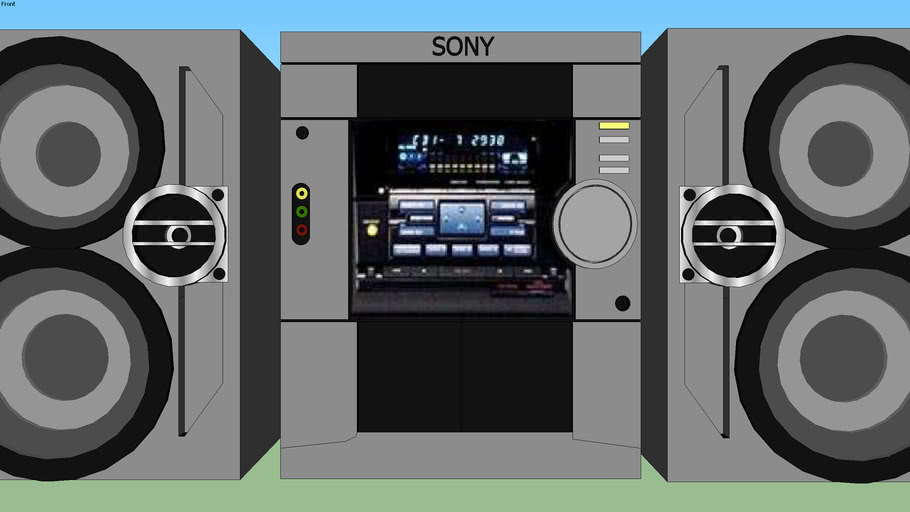 Sony Stereo System 3d Warehouse