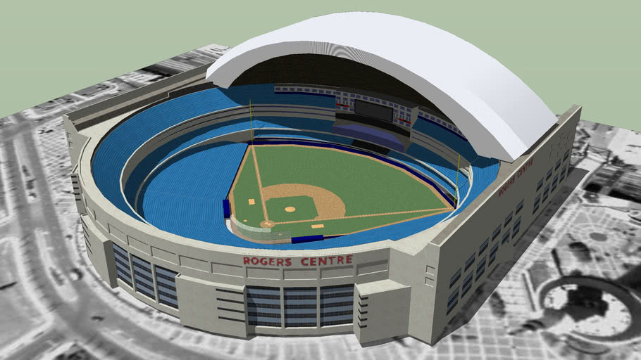Model of the Rogers Centre (with dome opened)