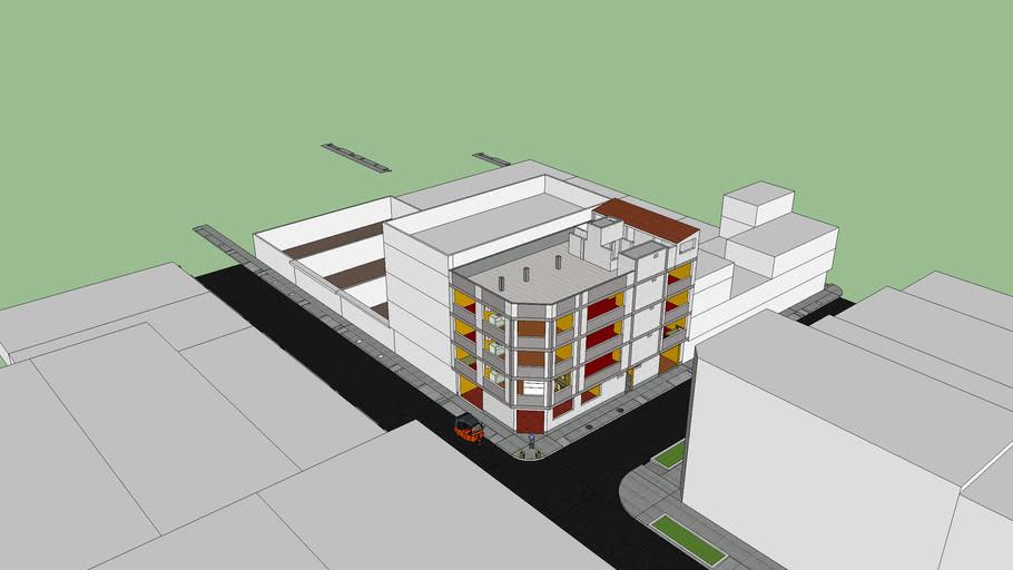Vivienda multifamiliar de 4 pisos, Santa Anita, Lima, Perú