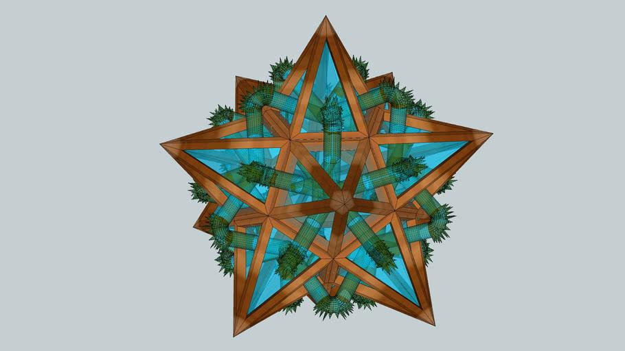 Glass Wood Moss Star