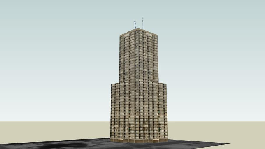 Rascacielos Residencial entre medianeras