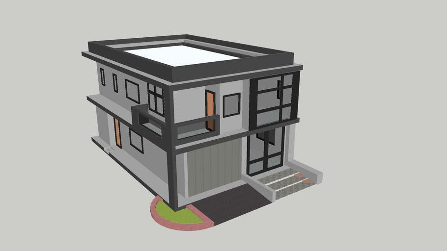 Sketchup 2 story home plan