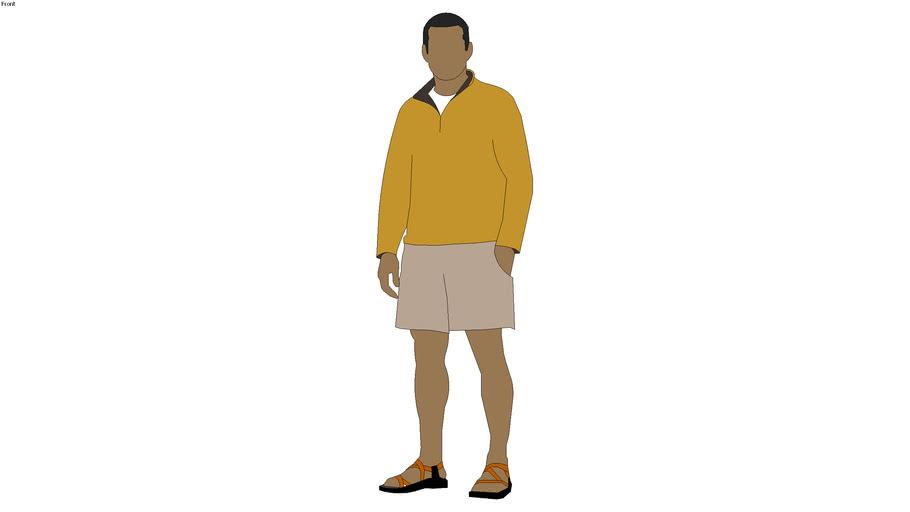 2d man standing - ChrisD (2008)