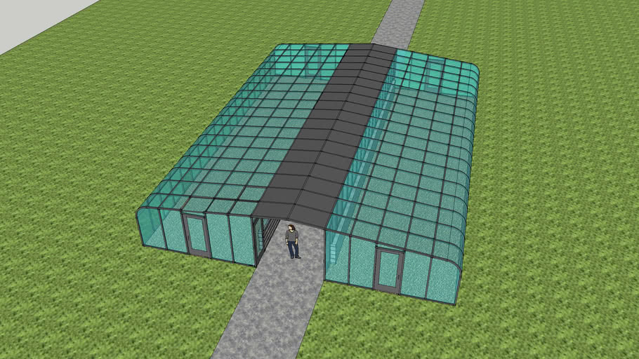 Doubled loaded Greenhouse along path
