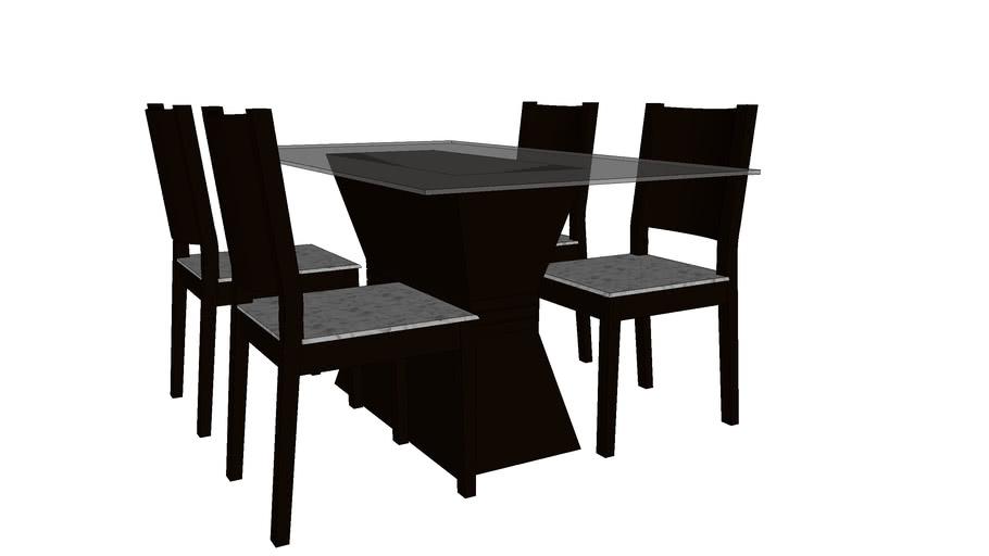 Mesa e Cadeiras Urtiga