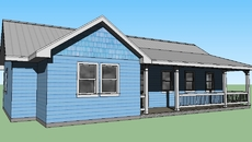 small house siding_3D