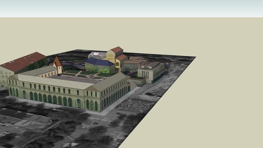 Quartier de la Citadelle METZ ( St Pierre aux Nonnains, Chapelle des Templiers, Arsenal )