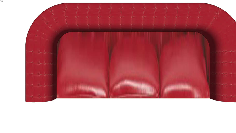 Canape Rouge Chesterfield From Maisons Du Monde 3d Warehouse