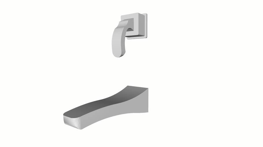 Tesla Single Handle Wall Mount Lavatory Faucet