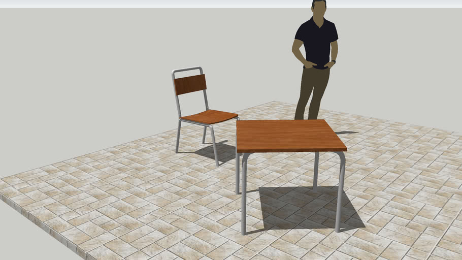 Silla Y Mesa De Terraza De Bar 3d Warehouse