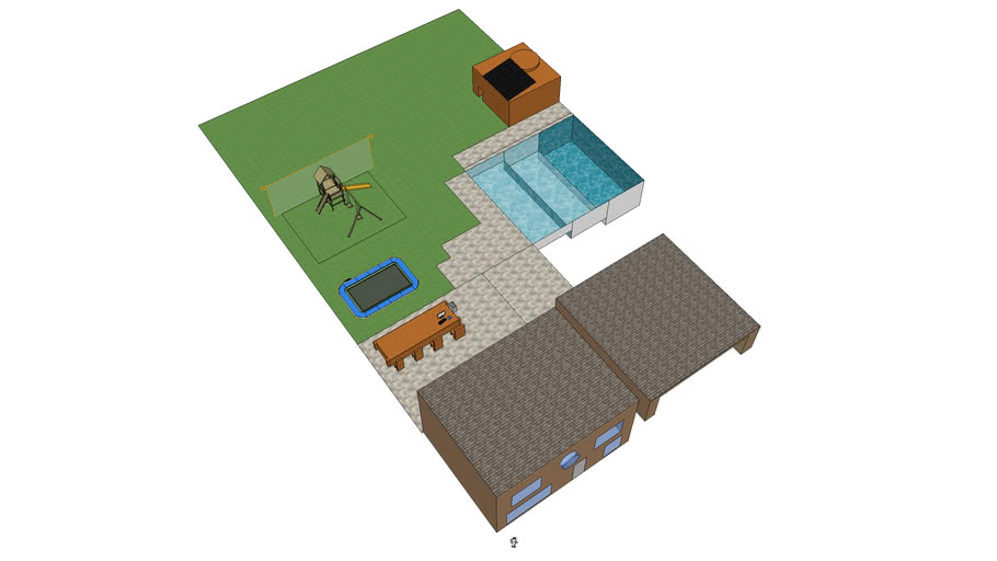 villa met garage en zwembad