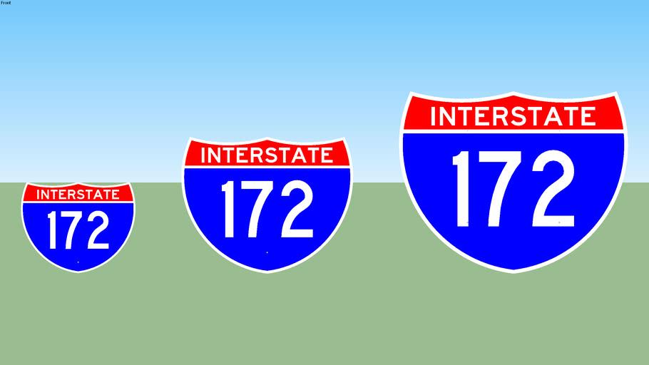 Interstate 172 Sign