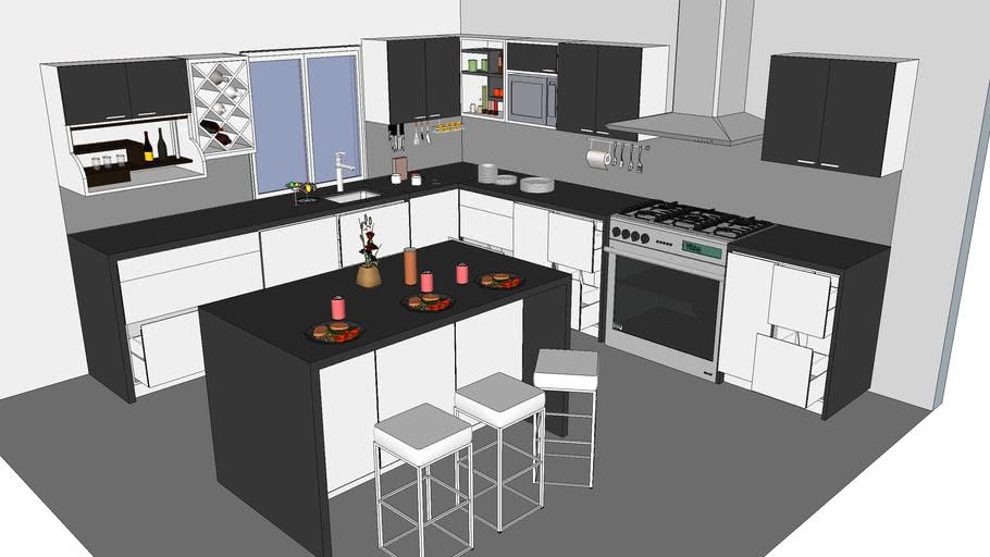 3d warehouse rack set model