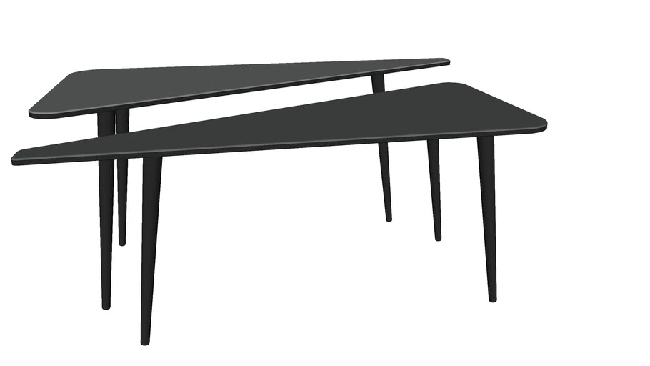 81141 Coffee Table La Costa Triangle (2/Set) (Couchtisch La Costa Triangle (2/Set))